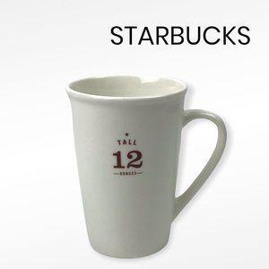 STARBUCKS 2010 Tall 12 Ounces Cream Mug